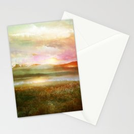 Sunset and flowers Stationery Cards