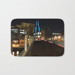 Crossing the bridge at night - Leeds Bath Mat