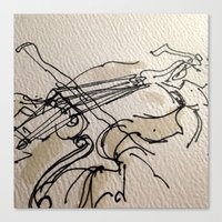violin Canvas Prints featuring VIOLIN by cegraph