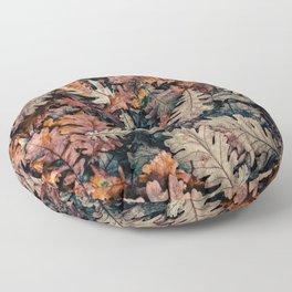 Autumn Leafs Pattern (Color) Floor Pillow