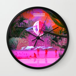change your perspective Wall Clock