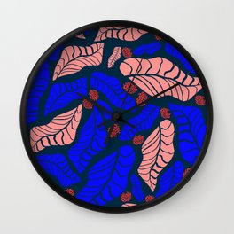 Bright bold floral designs for fashion and home Wall Clock