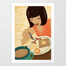 Toronto Brunch Art Print