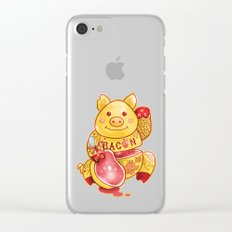 Lucky Pig Clear iPhone Case