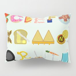 Food Font Pillow Sham