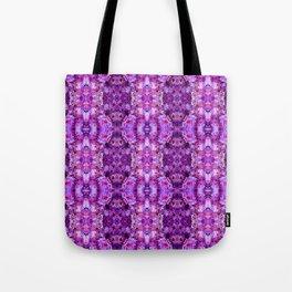 Violet Purple White Flower Pattern Tote Bag