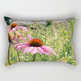 As the bees buzz Rectangular Pillow