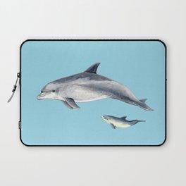 Blue Bottlenose dolphin Laptop Sleeve