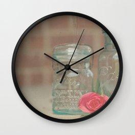 Vintage Ball Jars Wall Clock