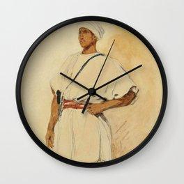 "Eugène Delacroix ""A standing Moroccan"" Wall Clock"