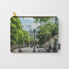 Street of montmartre in Paris, France Carry-All Pouch