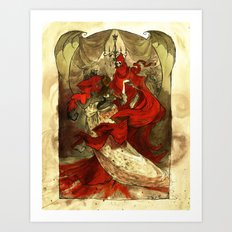 Masque of the Red Death Art Print
