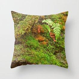 Moss Hysteria Throw Pillow