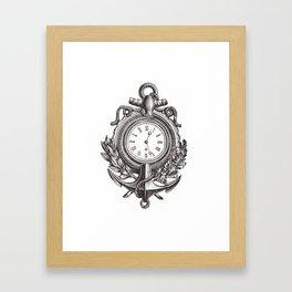 Anchor clock cell phone case Framed Art Print