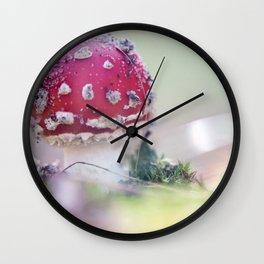 Toxic mushroom Wall Clock