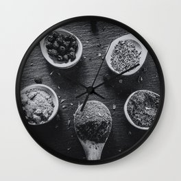 Spices. Wall Clock