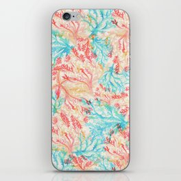 Coral Pattern iPhone Skin