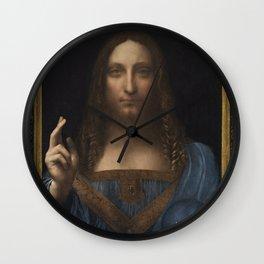 Portrait of Christ - Leonardo Da Vinci Wall Clock