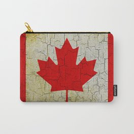 Cracked Canada flag Carry-All Pouch