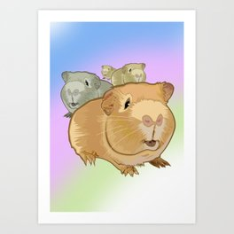 Guinea Pigs Art Print