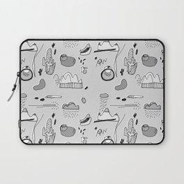 Cactus Mountain black&white Laptop Sleeve