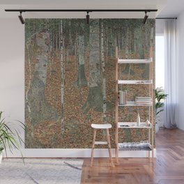 Gustav Klimt - Birch Forest Wall Mural