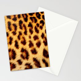 Leopard skin pattern Stationery Cards
