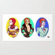 Glam Bowie 2 Art Print