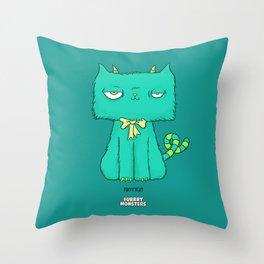 Furrrycat Throw Pillow