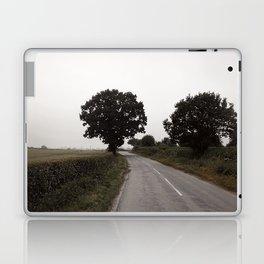 misty road in derbyshire Laptop & iPad Skin