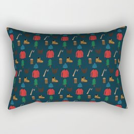 Lumberjack Things Rectangular Pillow