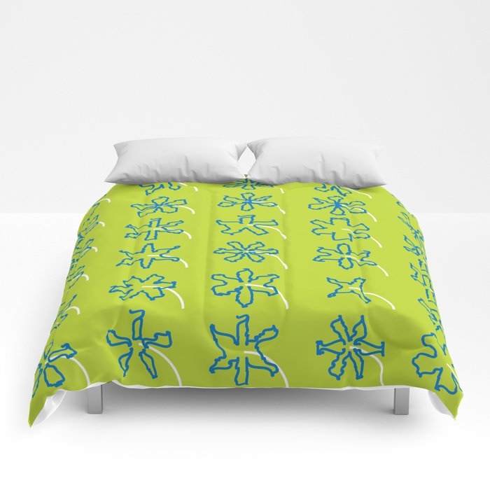 forget-me-knots flowerbed Comforters