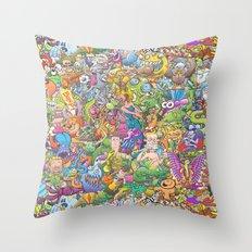 Creatures festival Throw Pillow