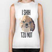 shih tzu Biker Tanks featuring I Shih Tzu Not by PhotosbySN