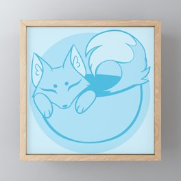 Teacup Sencha Fox- River Blue Framed Mini Art Print
