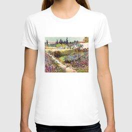 Vincent Van Gogh Flowering Garden T-shirt