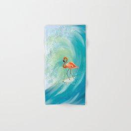 Surfing Flamingo Hand & Bath Towel
