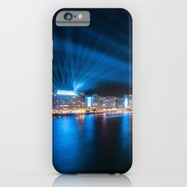 Sydney Skyline dressed in deep blue tones iPhone Case
