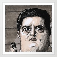 dale cooper Art Prints featuring Dale Cooper by Drawn by Nina