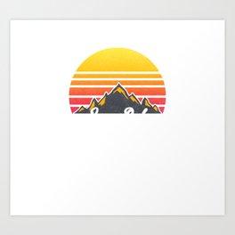 Longs Peak Colorado Sunset Hiking Art Print
