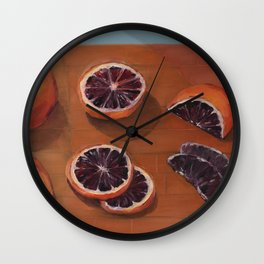 Blood Orange Dissection Wall Clock