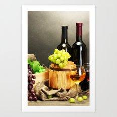 WINE 2 Art Print