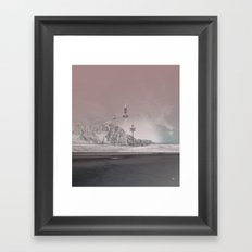 atmosphere 11 · The lost signal Framed Art Print