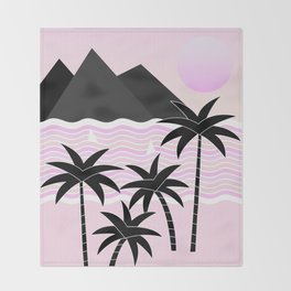 Hello Islands - Pink Skies Throw Blanket