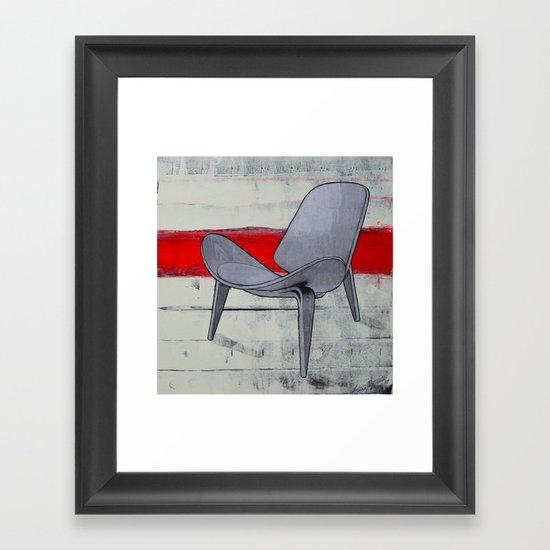 redline chair 01 Framed Art Print