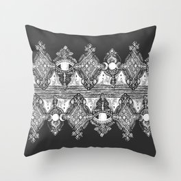 Night Vision Black and White Throw Pillow