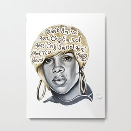 Mary J Metal Print