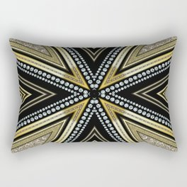 Glam Cross Star Rectangular Pillow