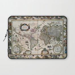 Map Nova totius terrarum orbis geographica (1635) Laptop Sleeve