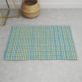 Plaid Lines in Blue Rug